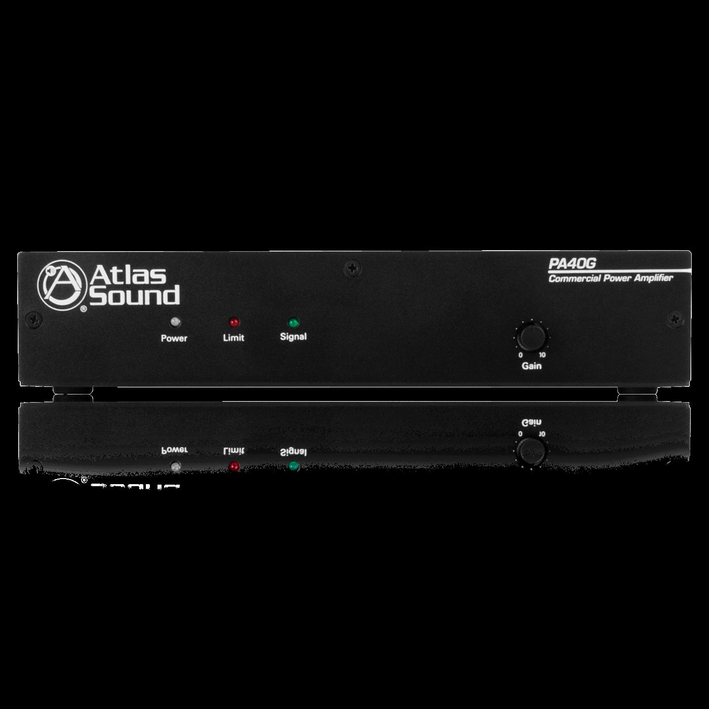 2 input 40 watt single channel power amplifier with global power rh atlasied com Kramer VGA Distribution Amplifier Kramer VGA Distribution Amplifier