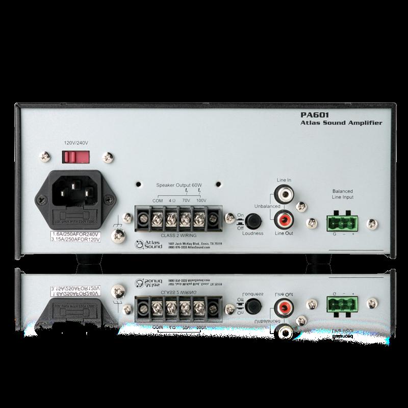 2 Input 60 Watt Single Channel Power Amplifier With Global
