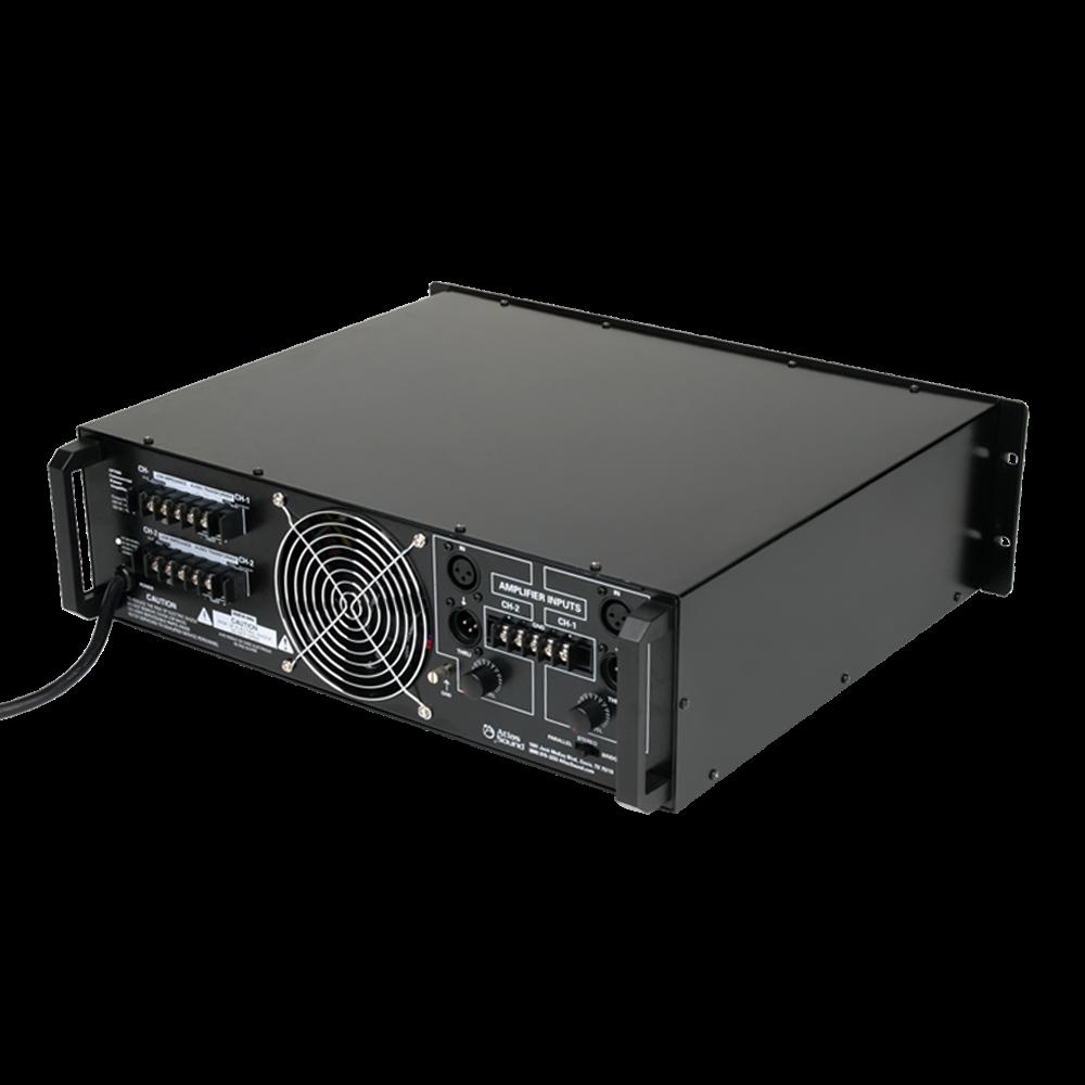 2 channel 700 watt 70v100v84 commercial audio power picture of dual channel 700 watt commercial power amplifier sciox Choice Image