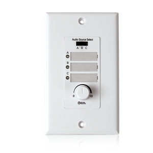 Picture of Wall Plate Input Select Switch, Volume Control 10k Pot with System Indicator