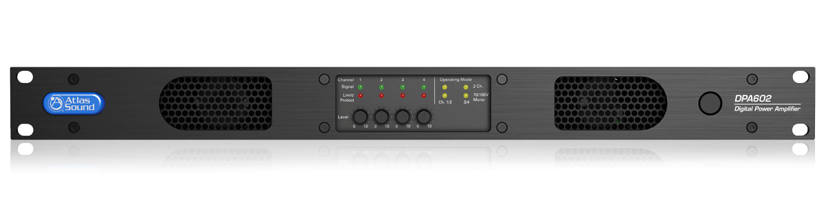 2 Channel Or 4 Channel Configurable Networkable 600 Watt Power Amplifier With Integrated Dsp Atlasied