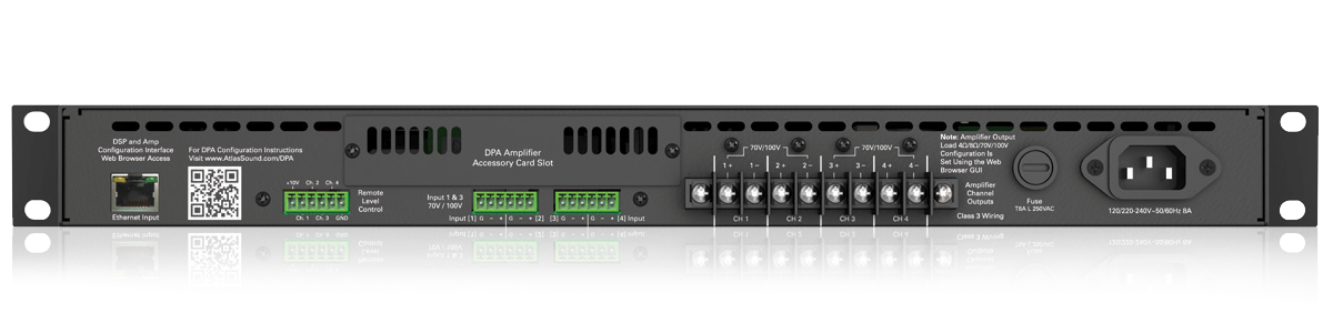 2 Channel Or 4 Channel Configurable Networkable 1200 Watt