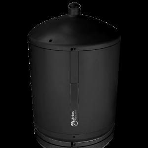 "Picture of 8"" 2-way Pendent Mount Speaker with 60-Watt 70.7V Transformer - Black"
