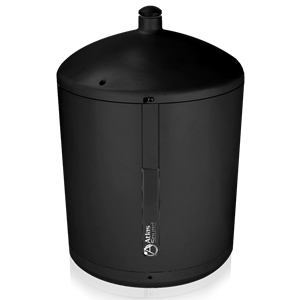 "Picture of 8"" 2-way High Efficiency Pendent Speaker with 8-Watt 70V Transformer - Black"