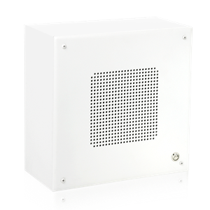 "Picture of 8"" Open Ceiling Surface Mount Loudspeaker with Enclosure and 4-Watt 25V/70V Transformer"