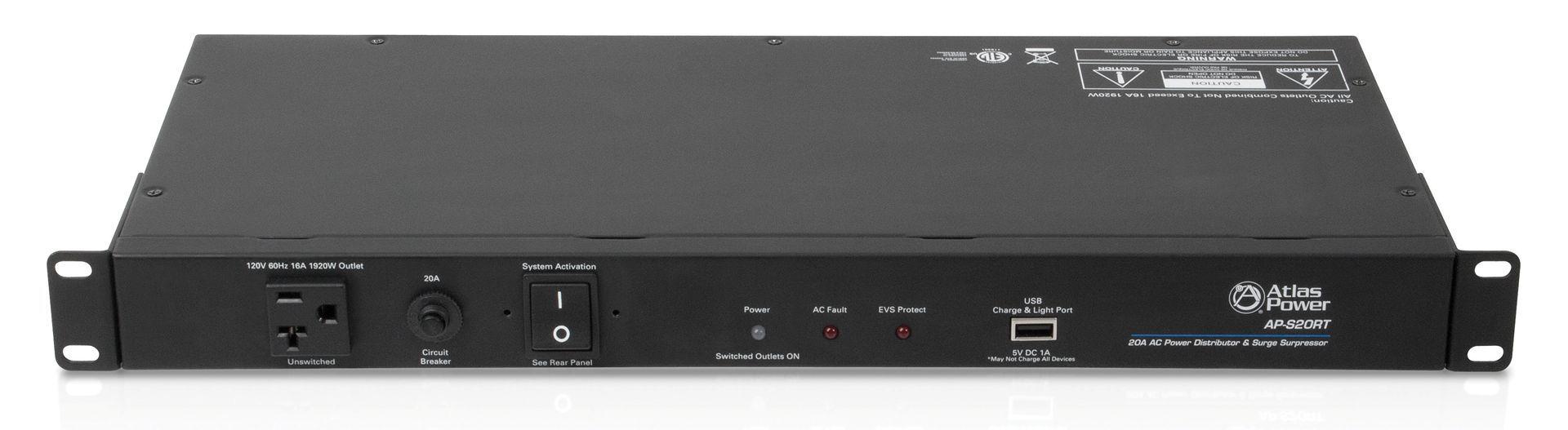 20a Ac Power Distribution Suppressor W Remote Atlasied