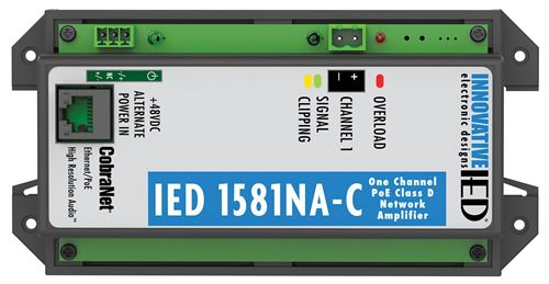 IED1581NA-C PoE Amplifier with CobraNet Network Audio
