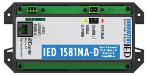 Picture of IED1581NA-D PoE Amplifier with Dante™ Network Audio