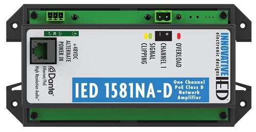 IED1581NA-D PoE Amplifier with Dante