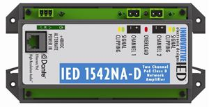Picture of IED1542NA-D PoE Amplifier with Dante™ Network Audio