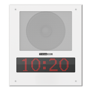 Picture of PoE+ Indoor Wall Mount IP Speaker with LED Display and Paging Microphone