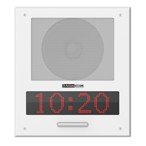 Picture of PoE+ Indoor Wall Mount IP Speaker with LED Display, Paging Microphone, and LED Flashers