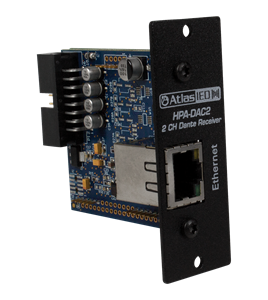 Picture of Two-Input Dante<sup>®</sup> Accessory Card for HPA Amplifiers