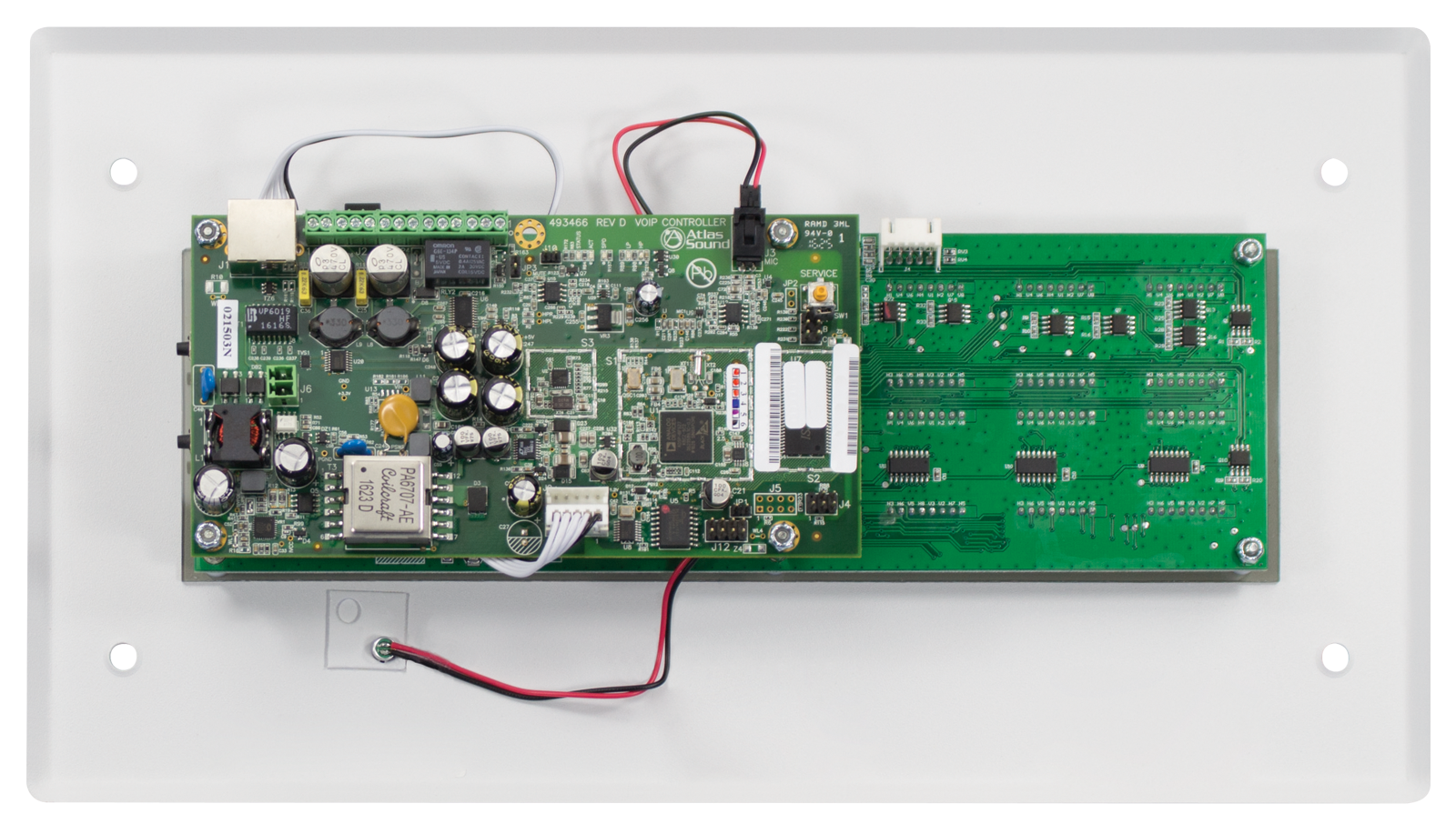 Poe Flush Mount Led Display Featuring 16 X 64 High Resolution Board Circuit Supporting Scrolling Text Atlasied
