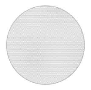 "Picture of 4.5"" Coaxial In-Ceiling Speaker with 32-Watt 70V/100V Transformer, Ported Enclosure, Safety First Mounting System, and Round White Edgeless Grille"