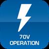 70V Operation Only