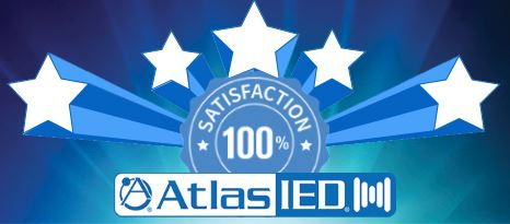 100% Satisfaction Score Granted to AtlasIED