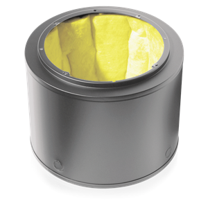 Picture of 8 inch Q Series 1 Cubic ft Cylindrical Enclosure with Undercoating