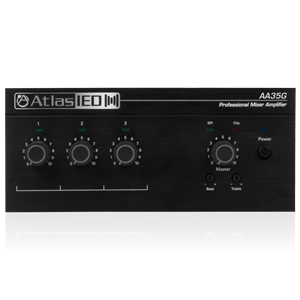 Picture of 3-Input, 35-Watt Mixer Amplifier with Global Power Supply