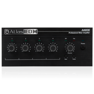 Picture of 4-Input, 60-Watt Mixer Amplifier with Global Power Supply