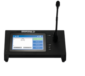 Picture of Touch Screen Digital Communication Station with CobraNet® Message Channels with Gooseneck Microphone