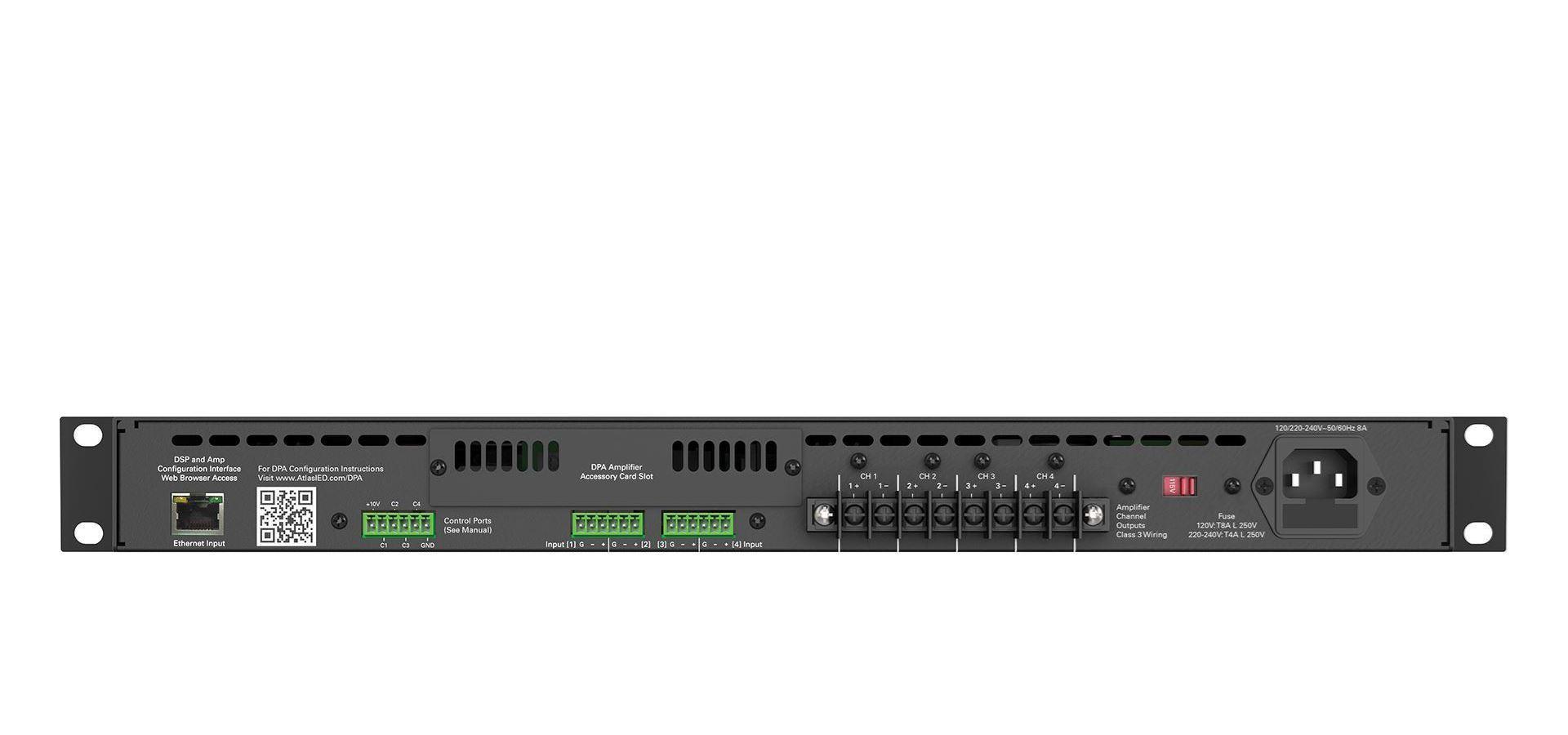800-Watt Networkable 4-Channel Power Amplifier with Optional Dante™ Network  Audio