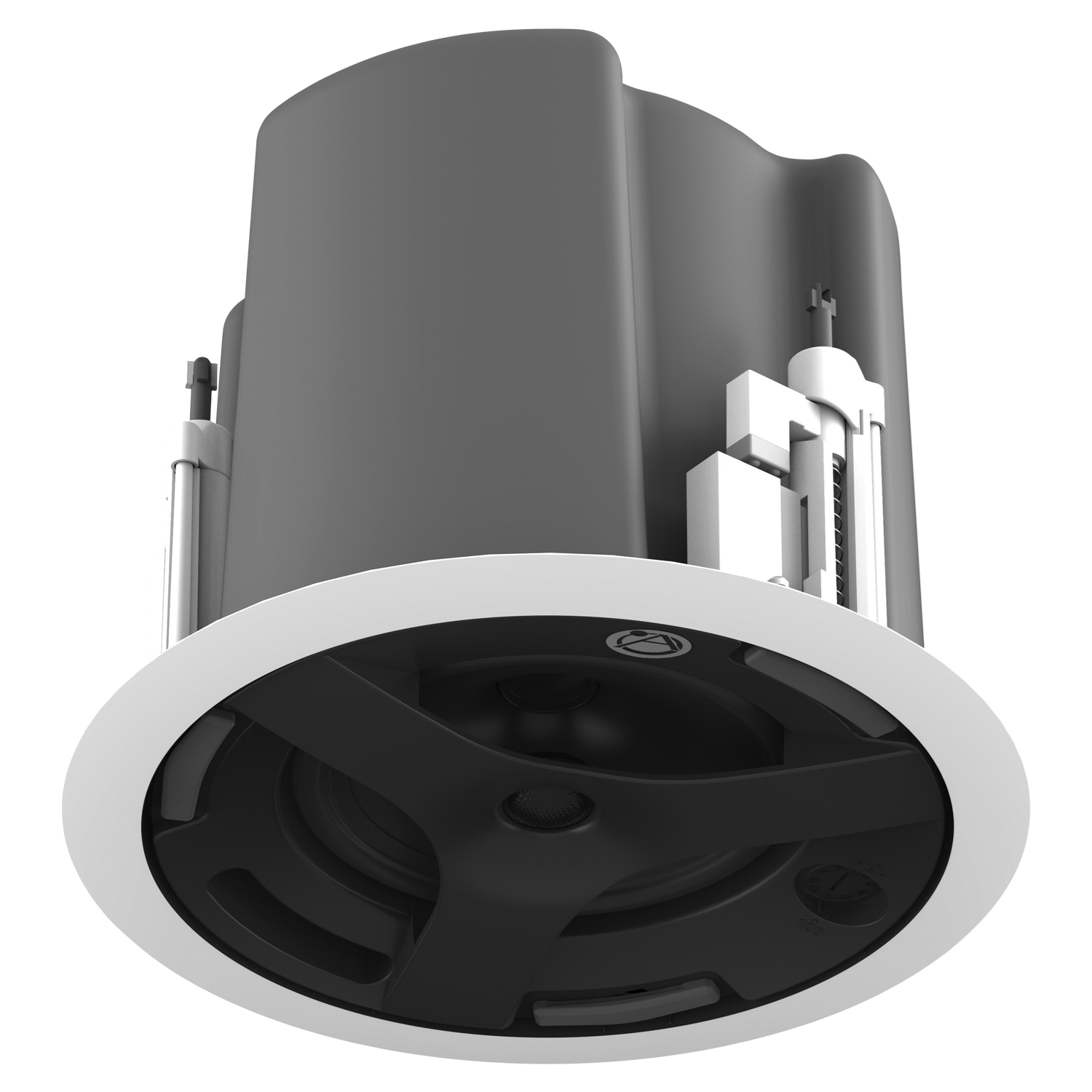 "6.5"" Coaxial In-Ceiling Speaker with 32-Watt 70V/100V Transformer, Ported  Enclosure, and Safety First Mounting System"