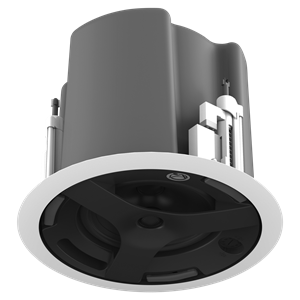"Picture of 6.5"" Coaxial In-Ceiling Speaker with 32-Watt 70V/100V Transformer, Ported Enclosure, and Safety First Mounting System"