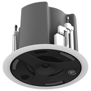 "Picture of 4.5"" Coaxial In-Ceiling Speaker with 32-Watt 70V/100V Transformer, Ported Enclosure, and Safety First Mounting System"
