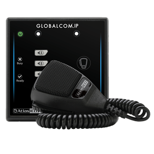 Picture of GLOBALCOM®.IP Digital Microphone Station with 4 Buttons and Dante® Message Channels