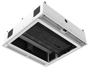 "Picture of 2' x 2' Ceiling-Mount Rack with 2RU, Standard-Width, AmbiTILT™ Shelf and Integrated AC Power Pack with Auto Sensing ""On-Off"" - Without Projector Pole Adapter"