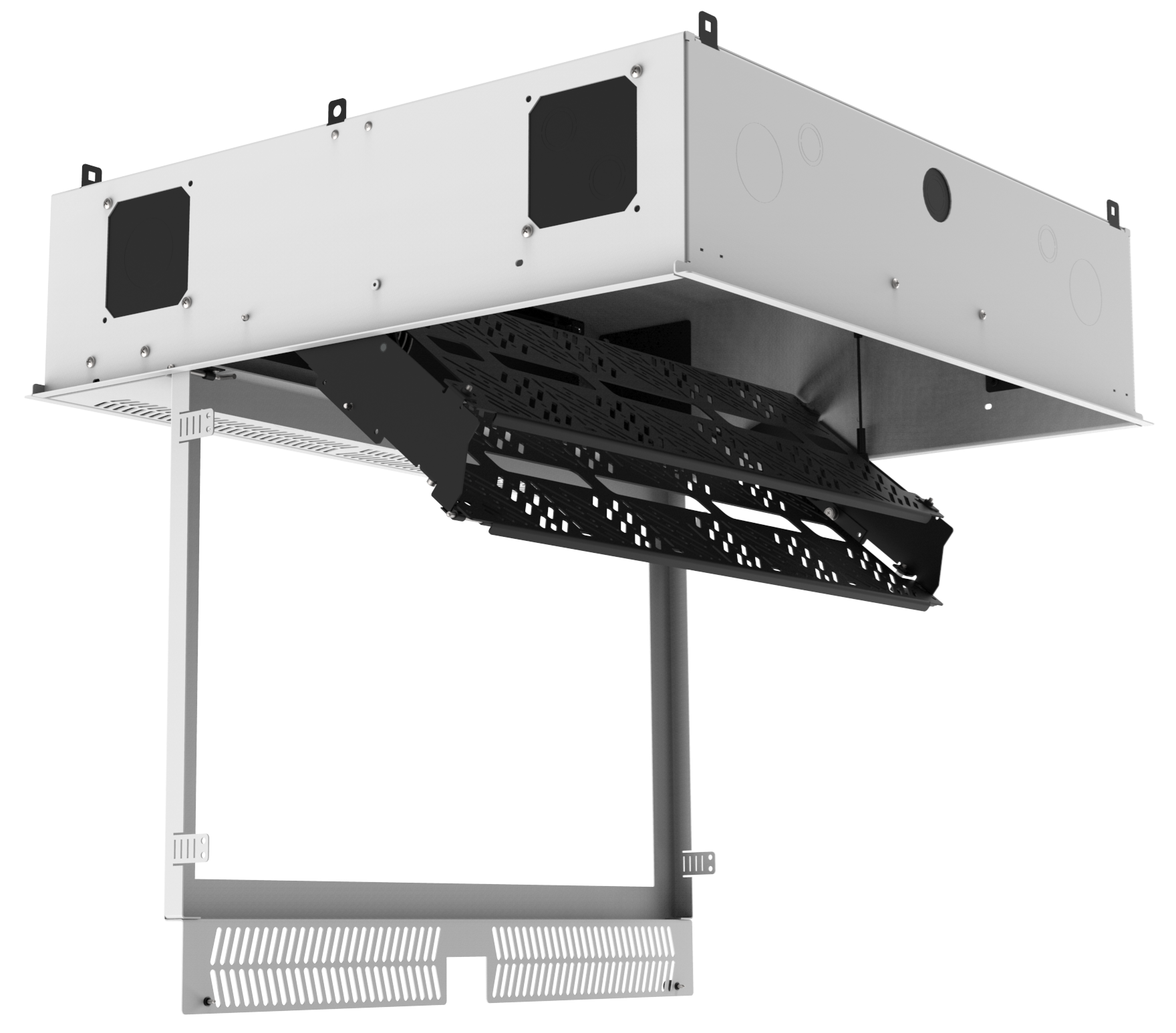 Atlasied Cr222p Nr Concealed Ceiling Rack For 19