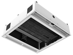 Picture of 2' x 2' Ceiling-Mount Rack with 2RU, Standard-Width, AmbiTILT™ Shelf and Integrated AC Power Pack - Without Projector Pole Adapter