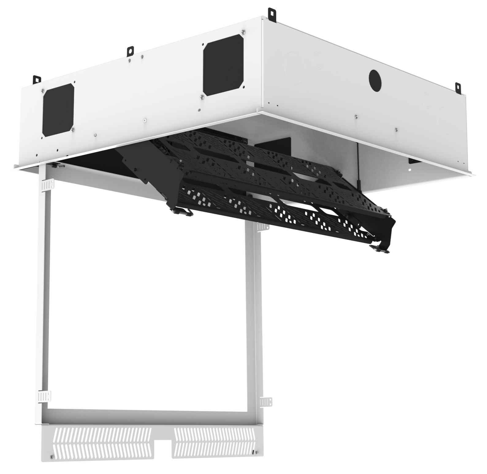 Atlasied Cr222 Nr Concealed Ceiling Rack For 19 Quot Equipment