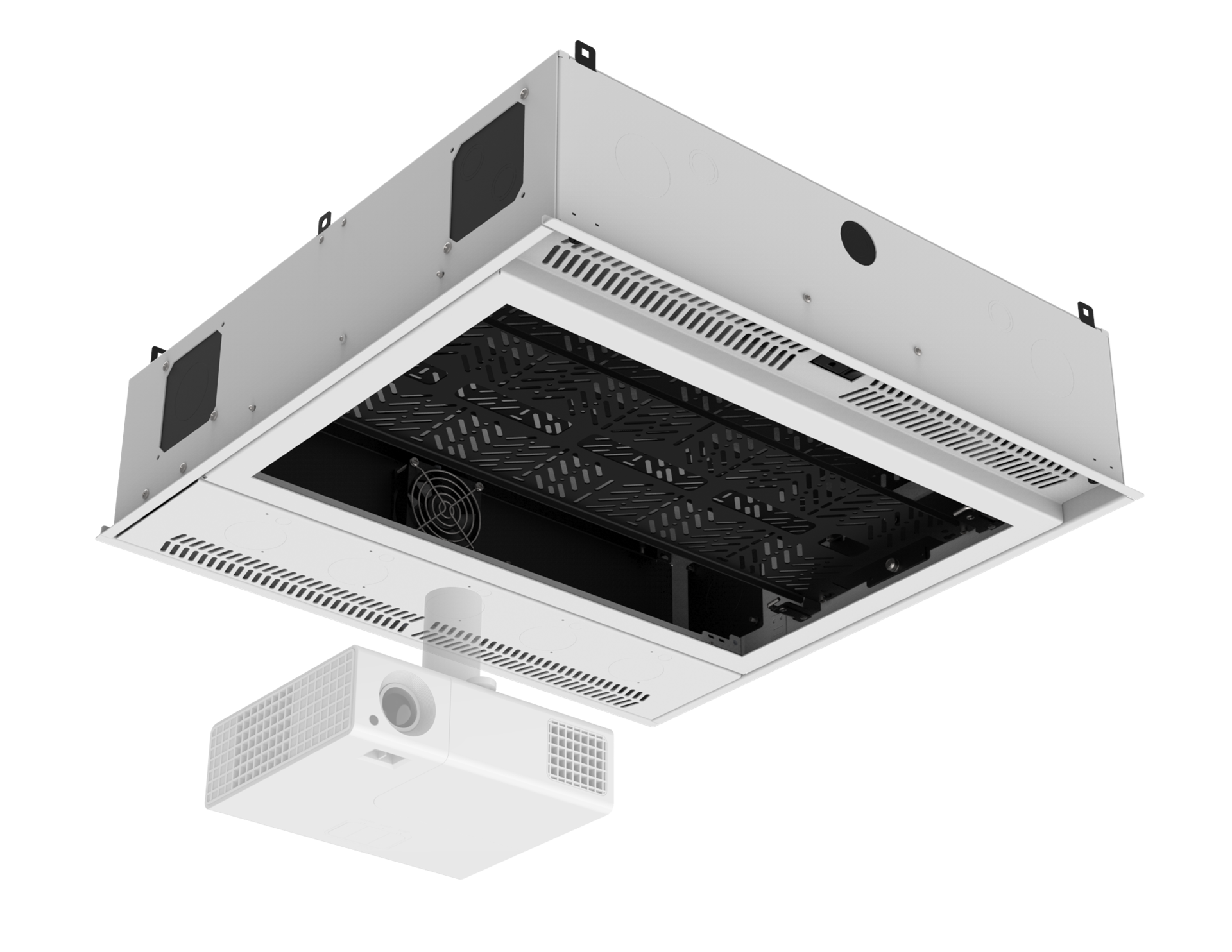 Picture Of 2 X Ceiling Mount Rack With 2ru