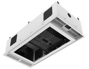 """Picture of 1' x 2' Ceiling-Mount Rack with 2RU, Half-Width, AmbiTILT™ Shelf and Integrated AC Power Pack with Auto Sensing """"On-Off"""" - Without Projector Pole Adapter"""