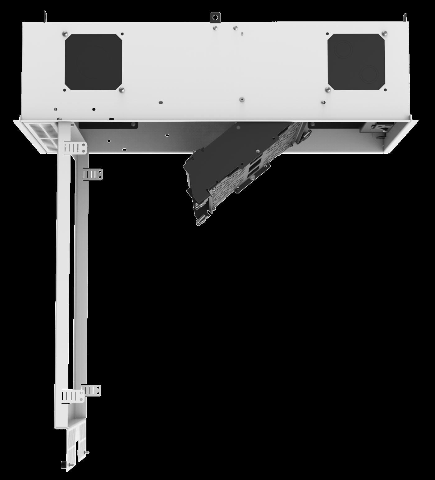 Atlasied Cr212 Nr Concealed Ceiling Rack For Half Rack