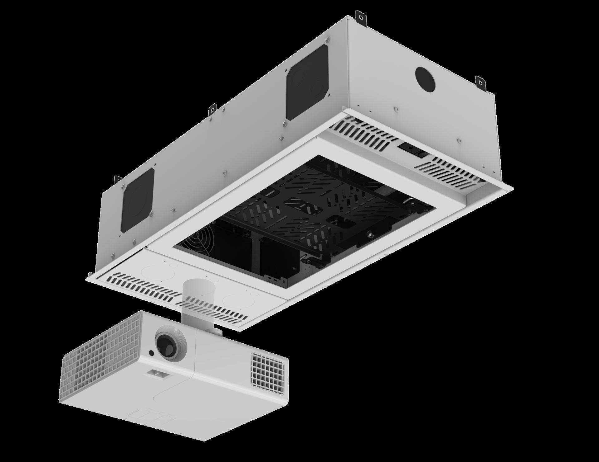 AtlasIED CR212P Concealed Ceiling Rack for Half Rack