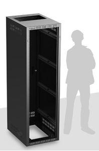 Picture of Welded Rack 30 inch Deep, 40RU   *Shown with OPTIONAL Front Door**