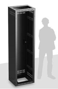 Picture of Welded Rack 18.5 inch Deep, 44RU   *Shown with OPTIONAL Front Door**