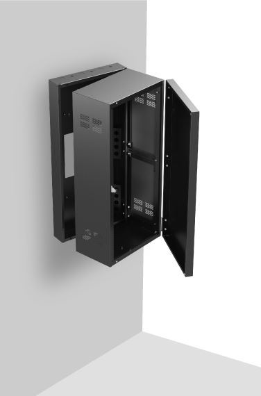 Stand Alone Wall Rack With Adjustable Rails 12 Quot Deep 24ru