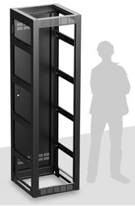 Picture of Gangable Rack 25.5 inch Deep, 44RU  **Shown with Optional Side Panels & Front Door**