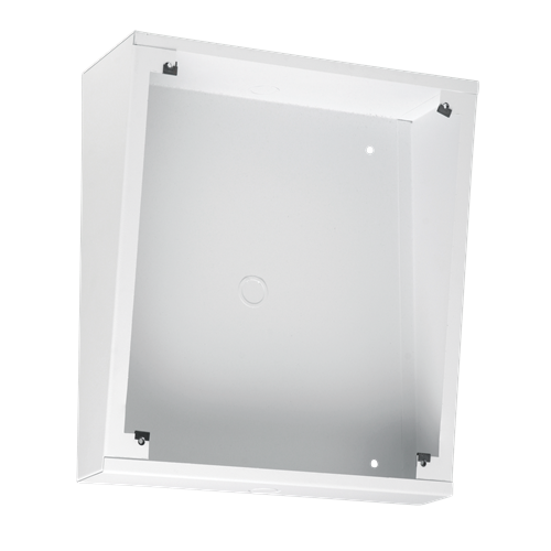 Picture of Angled Enclosure for IP Addressable Speakers with Displays