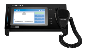 Picture of GLOBALCOM®.IP Touch Screen Digital Communication Station with Dante™ Message Channels and Handheld Mic