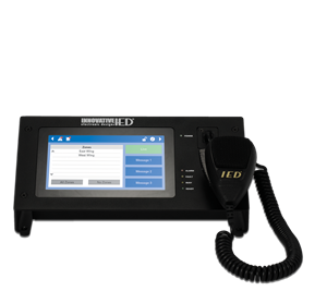 Picture of Touch Screen Digital Communication Station with CobraNet® Message Channels with Handheld Microphone