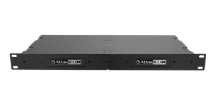 Picture of Dual PoE+ IP Addressable IP-to-Analog Gateways with Integrated Amplifier and Rack Mount Kit