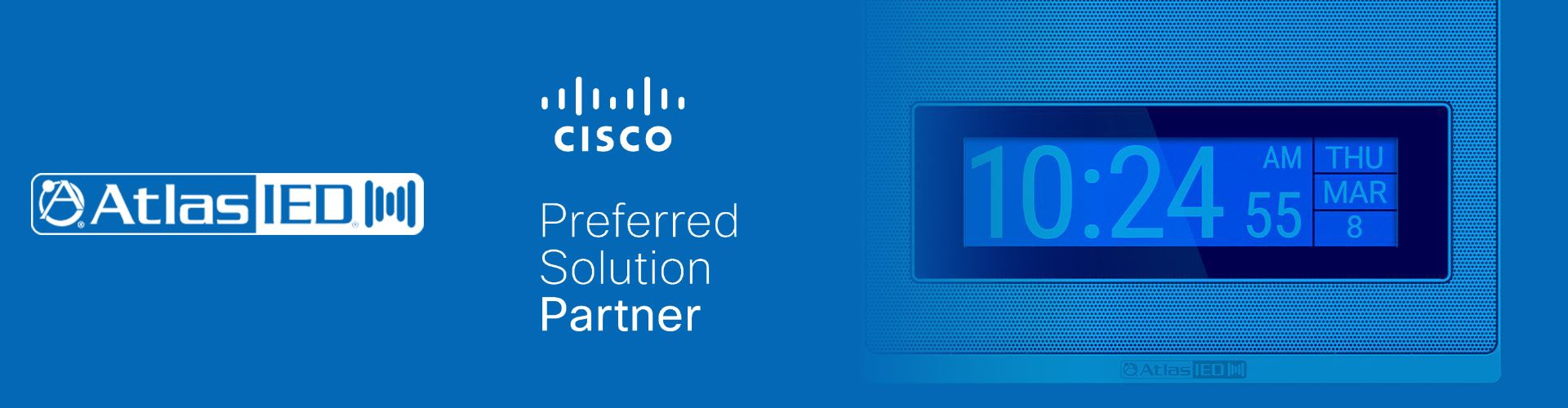AtlasIED's New IPX Family of IP Endpoints is Now Available on the Cisco SolutionsPlus Global Price List