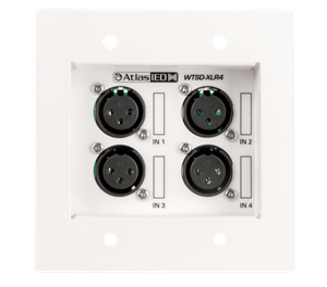 Picture of Four XLR Input Wall Plate for Use with WTSD-MIX41K
