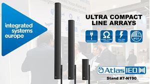 AtlasIED Shows Ultra-Compact Line Array ALA Speaker Offerings ISE 2020