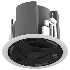"Picture of 4.5"" Coaxial In-Ceiling Speaker with 32-Watt 70V/100V Transformer, Ported Enclosure, and Safety First Mounting System (UL Certified)"